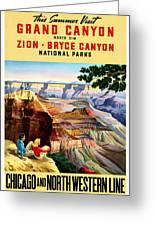 Visit Grand Canyon - Restored Greeting Card