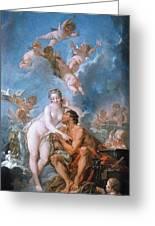 Visit Of Venus To Vulcan Greeting Card