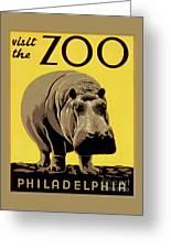 Visit The Zoo Philadelphia Greeting Card