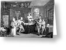 Visit To The Quack Doctor, 1745 Greeting Card