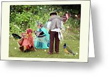 Visitors At A Fairy Blessing Greeting Card