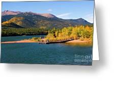 Visitors At Pikes Peak And Crystal Reservoir Greeting Card