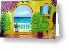 Vista Del Agua Greeting Card