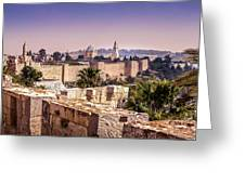 Vista From The Parapet Greeting Card