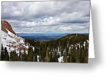 Vista With Snow And Red Rock Greeting Card