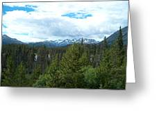 Vistas Along The Alcan Greeting Card