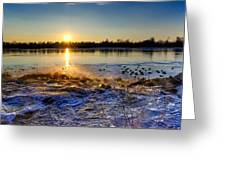 Vistula River Sunset 3 Greeting Card