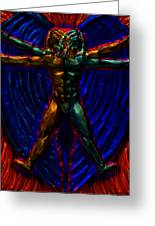 Vitruvian Angel Greeting Card