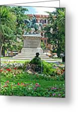 Vittorio Emanuele II Statue Greeting Card