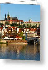 Vitus Cathedral Over Vltava  Greeting Card