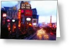 Viva Las Vegas Painting Greeting Card