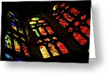 Vivacious Stained Glass Windows Greeting Card