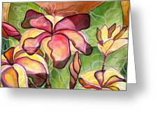 Vivian's Plumeria Greeting Card