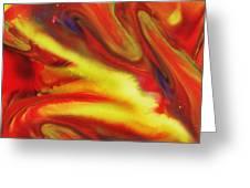 Vivid Abstract Vibrant Sensation IIi Greeting Card