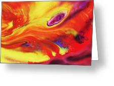 Vivid Abstract Vibrant Sensation Iv Greeting Card