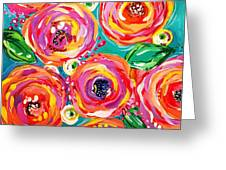 Vivid Flora Greeting Card