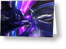 Vivid Waves Abstract Greeting Card