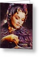 Vivien Leigh, Vintage Hollywood Actress Greeting Card