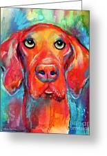 Vizsla Dog Portrait Greeting Card