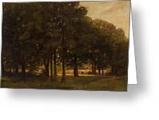 Vladimir Donatovich Orlovsky  Russian 1842  1914 Summer Landscape Greeting Card