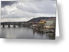 Vltava River Scene Greeting Card