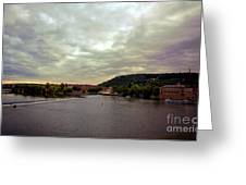 Vltava View 1 Greeting Card