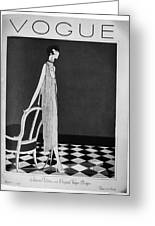 Vogue Magazine, 1925 Greeting Card