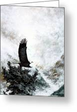 Voice Of The Eagle Reaches Toward The Heavens Greeting Card