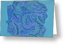 Voilet Spiral Greeting Card