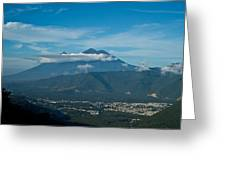 Volcan De Agua Antiqua Gutemala 5 Greeting Card