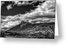 Volcan De Fuego - Bnw - Antigua Guatemala Greeting Card