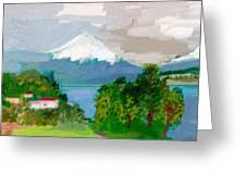 Volcanes Sur De Chile Greeting Card