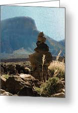 Volcanic Desert Composition Greeting Card