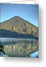 Volcano And Reflection Lake Atitlan Guatemala 3 Greeting Card