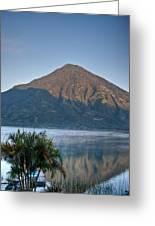 Volcano And Reflection Lake Atitlan Guatemala Greeting Card