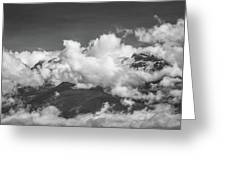 Volcano Chachani In Arequipa Peru Covered By Clouds Greeting Card