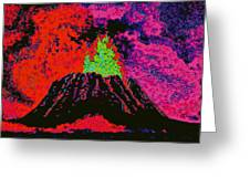 Volcano D5b Greeting Card