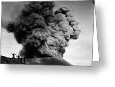 Volcano: Java, 1910 Greeting Card