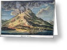 Volcano: Mt. Etna Greeting Card by Granger
