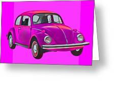 Volkswagen Beetle So Pinks Greeting Card