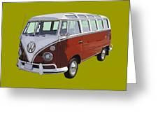 Volkswagen Bus 21 Window Bus  Greeting Card