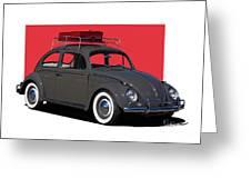 Volkswagen Vw Beetle Greeting Card