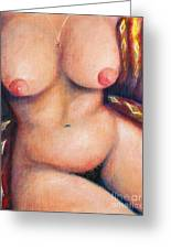 Voluptuous Nude Greeting Card by Melle Varoy