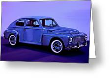 Volvo Pv 544 1958 Mixed Media Greeting Card