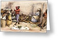 Voodoo Dance, 1885 Greeting Card