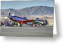 Voodoo Engine Start Sunday Gold Unlimited Reno Air Races Greeting Card