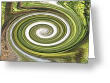 Vortex - River Frays Abstract Greeting Card