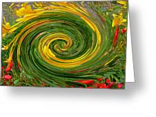 Vortex Abstract Art No. 16 Greeting Card
