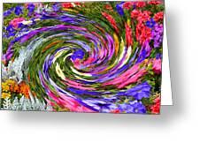 Vortex Abstract Art No. 18 Greeting Card