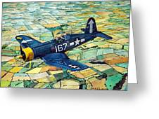 Quiet Sky - Vought F4u-1d Corsair Greeting Card